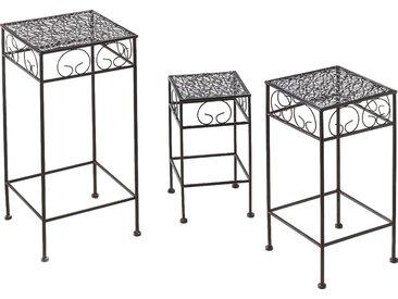 Home affaire Blumentisch (3 Stück) Einheitsgröße braun Pflanzgefäße Blumenvasen Kleinmöbel Tisch