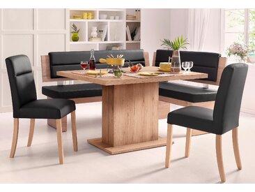 Home affaire Eckbankgruppe, (Set, 4 tlg.) Einheitsgröße schwarz Sitzbänke Nachhaltige Möbel Eckbankgruppe
