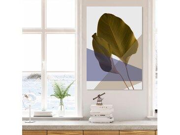queence Acrylglasbild Blätter 100x150 cm grün Acrylglasbilder Bilder Bilderrahmen Wohnaccessoires