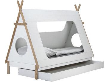 Lüttenhütt Kinderbett Dolidoo, in Zeltform, Hausbett, Zeltbett Liegefläche B/L: 90 cm x 200 cm, Gewicht weiß Kinder Kinderbetten Kindermöbel