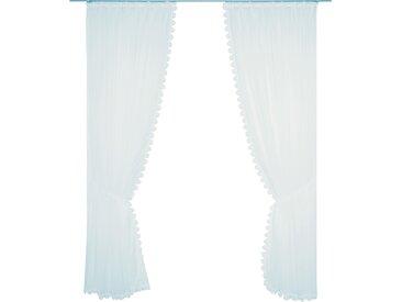 Wirth Gardine Elena, veredelt mit echter Plauener Spitze Stickerei, inkl. Raffhalter 140 cm, Faltenband, 300 cm weiß Wohnzimmergardinen Gardinen nach Räumen Vorhänge