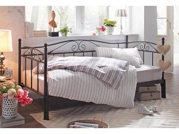 Home affaire Daybett Birgit, mit einer praktischen ausziehbaren Liegefläche, schönes Metallgestell Liegefläche B/L: 90 cm x 200 Betthöhe: 99 cm, kein Härtegrad, ohne Matratze schwarz Doppelbetten Betten