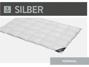 Daunenbettdecke, Silber, SPESSARTTRAUM, Füllung: 100% Daunen, Bezug: Baumwolle weiß, 155x220 cm weiß Daunendecke Bettdecken Bettdecken, Kopfkissen Unterbetten Bettdecke