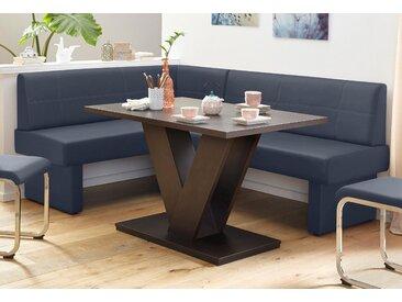 Eckbank Kunstleder, langer Schenkel rechts, 152cm blau Essbänke Sitzbänke Stühle