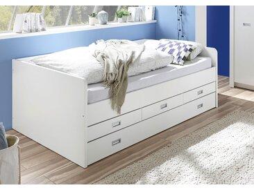 Begabino Funktionsbett Alaska, mit 2. Schlafgelegenheit Liegefläche B/L: 120 cm x 200 Betthöhe: 52 cm, kein Härtegrad, ohne Matratze weiß Kinder Kinderbetten Kindermöbel