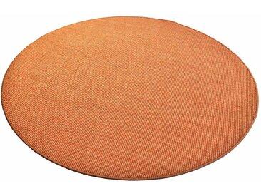Living Line Sisalteppich Trumpf, rund, 6 mm Höhe, Obermaterial: 100% Sisal, Wohnzimmer 43 (Ø 240 cm), orange Schlafzimmerteppiche Teppiche nach Räumen