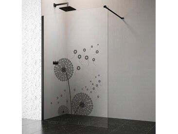 welltime by GEO Walk-in-Dusche, 140 cm, schwarz Einheitsgröße Duschwände Duschen Bad Sanitär