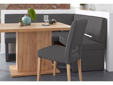 Home affaire Eckbank Murano langer Schenkel links grau Sitzbänke Nachhaltige Möbel