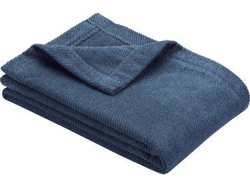 Wohndecke Valencia, IBENA 140x200 cm, Mischgewebe blau Baumwolldecken Decken Wohndecken