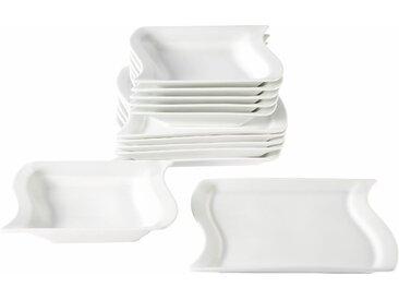 Home affaire Tafelservice Marchetto (12-tlg.), Porzellan Tafelservice, 12-teilig weiß Geschirr-Sets Geschirr, Tischaccessoires Haushaltswaren