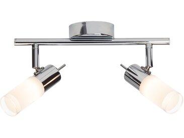 Brilliant Leuchten Zoey LED Spotrohr 2flg chrom/weiß 0, Einheitsgröße silberfarben Deckenstrahler Strahler Spots Lampen Deckenleuchten