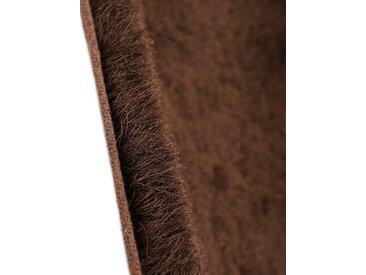 Hochflor-Teppich, Breeze, carpetfine, rund, Höhe 45 mm, handgetuftet (Ø 200 cm), mm braun Shaggy-Teppiche Hochflor-Teppiche Teppiche