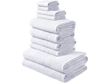 Handtuch Set, Inga, my home (Set) 0, 10tlg.-Set weiß Handtuch-Sets Handtücher Badetücher Handtuchset