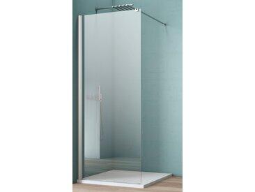 maw Walk-in-Dusche AW001, Breite 140 cm ohne Antikalk-Versiegelung silberfarben Duschwände Duschen Bad Sanitär