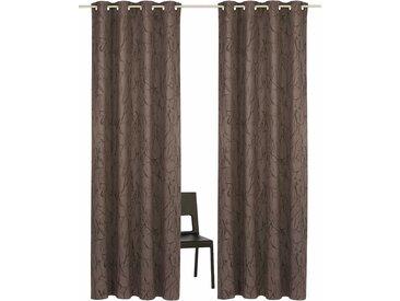 Vorhang, Bamian, my home, Ösen 2 Stück 8, H/B: 245/270 cm, blickdicht / energiesparend, grau Blickdichte Vorhänge Gardinen Gardine