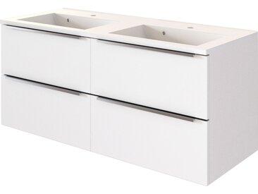 HELD MÖBEL Doppelwaschtisch Matera, Breite 120 cm x 56 weiß Waschtische Badmöbel