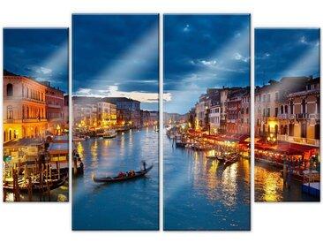 Wall-Art Mehrteilige Bilder Canal Grande Venedig (4-teilig), (Set, 4 St.) Einheitsgröße bunt Bilderrahmen Wohnaccessoires