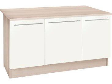 OPTIFIT Kochinsel Bern, mit Theke, Breite 160 cm Einheitsgröße weiß Küchenzeilen ohne Geräte -blöcke Küchenmöbel Arbeitsmöbel-Sets