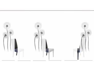 Schiebegardine, CORK, HOME WOHNIDEEN, Klettband 6 Stück H/B: 245/60 cm, blickdicht, schwarz Blickdichte Vorhänge Gardinen Gardine