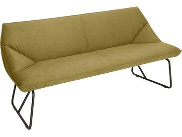 TOM TAILOR Sitzbank CUSHION, mit schmalem Metallgestell, Breite 184 cm B/H/T: x 83 65 cm, Samtstoff STC gelb Tom Tailor Stühle und Sitzbänke Premium-Möbel