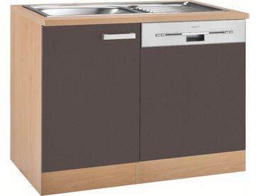 OPTIFIT Spülenschrank Odense, Gesamtbreite 110 cm, mit Tür/Sockel für teilintegrierbaren Geschirrspüler B/H/T: cm x 85 60 1 grau Spülenschränke Küchenschränke Küchenmöbel