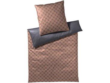 Bettwäsche Cornflower Double, Joop 1x 155x220 cm, 80x80 Mako-Satin braun Mako-Satin-Bettwäsche nach Material Bettwäsche, Bettlaken und Betttücher