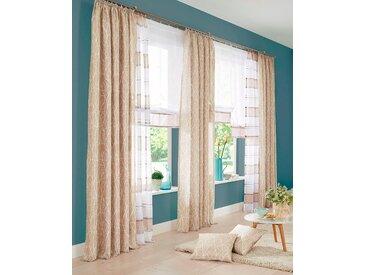 my home Gardine Camposa 175 cm, Kräuselband, 140 cm beige Wohnzimmergardinen Gardinen nach Räumen Vorhänge