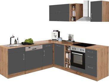 HELD MÖBEL Winkelküche Colmar, ohne E-Geräte, Stellbreite 210/240 cm B: 210 cm-240 braun L-Küchen Küchenzeilen -blöcke Küchenmöbel