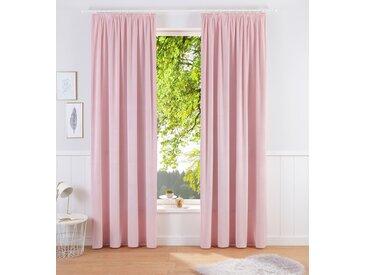 Vorhang, Brighton, Home affaire, Kräuselband 2 Stück 6, H/B: 295/140 cm, blickdicht, rosa Blickdichte Vorhänge Gardinen Gardine