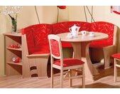 SCHÖSSWENDER Rundbank Boston, pflegeleicht B/H/T: 131 cm x 86 196 cm, Polyester, Langer Schenkel links rot Polsterbänke Sitzbänke Stühle