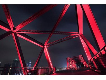 Places of Style Acrylglasbild Brücke B/H/T: 150 cm x 100 2,4 cm, rot Acrylglasbilder Bilder Bilderrahmen Wohnaccessoires