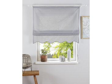 Home affaire Raffrollo Florenz, mit Klettband 140 cm, Klettband, 100 cm grau Blickdichte Vorhänge Gardinen