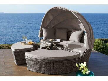 KONIFERA Loungebett Tahiti Premium B/H/T: 188 cm x 37,5 169,5 grau Lounge-Gartenmöbel Gartenmöbel Gartendeko
