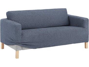 GAICO Sofahusse Eleganza, mit innovativer 3D-Struktur 2-Sitzer, Mischgewebe blau Sofahussen Hussen Überwürfe Husse