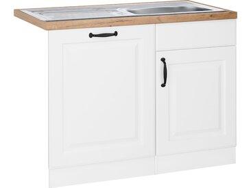 wiho Küchen Spülenschrank Erla, 110 cm breit, inkl. Tür/Sockel für Geschirrspüler B/H/T: x 85 60 cm, 2 weiß Spülenschränke Küchenschränke Küchenmöbel