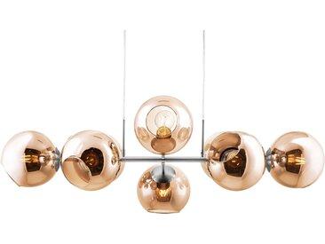 Nino Leuchten,LED Pendelleuchte Pilar 1 St., 8 -flg. / Ø18 cm braun Pendelleuchten und Hängeleuchten Deckenleuchten Lampen Leuchten