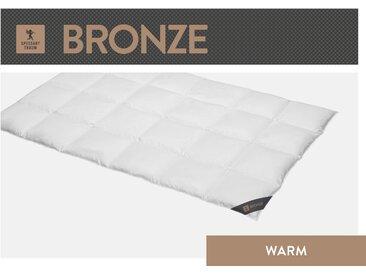Daunenbettdecke, Bronze, SPESSARTTRAUM, Füllung: 90% Daunen, 10% Federn, Bezug: 100% Baumwolle weiß, 155x220 cm weiß Daunendecke Bettdecken Bettdecken, Kopfkissen Unterbetten Bettdecke