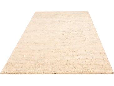 andas Wollteppich Malia, rechteckig, 24 mm Höhe, reine Wolle, echter Berber, handgeknüpft, Wohnzimmer B/L: 90 cm x 160 cm, 1 St. grau Esszimmerteppiche Teppiche nach Räumen