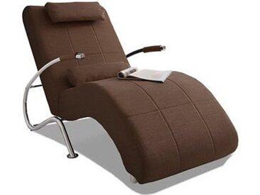 COLLECTION AB Relaxliege, in elegantem Design, wahlweise mit Kippfunktion, frei im Raum stellbar Microfaser PRIMABELLE®, 78 cm, Mit Kippfunktion braun Relaxliegen Sessel Sofas