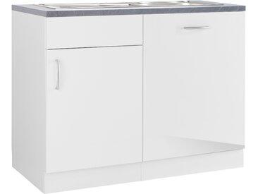 wiho Küchen Spülenschrank Brüssel, mit Tür/Sockel für Geschirrspüler B/H/T: 110 cm x 86 60 weiß Spülenschränke Küchenschränke Küchenmöbel