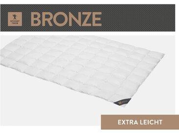 Daunenbettdecke, Bronze, SPESSARTTRAUM, Füllung: 90% Daunen, 10% Federn, Bezug: 100% Baumwolle weiß, 200x220 cm weiß Daunendecke Bettdecken Bettdecken, Kopfkissen Unterbetten Bettdecke