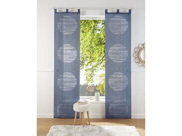 Neutex for you Schiebegardine Padova, Inkl. Zubehör 295 cm, Schlaufen, 57 cm blau Wohnzimmergardinen Gardinen nach Räumen Vorhänge