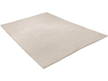 THEKO Wollteppich Hadj Uni, rechteckig, 25 mm Höhe, echter Berber, reine Wolle, Wohnzimmer 170x240 cm, weiß Schlafzimmerteppiche Teppiche nach Räumen
