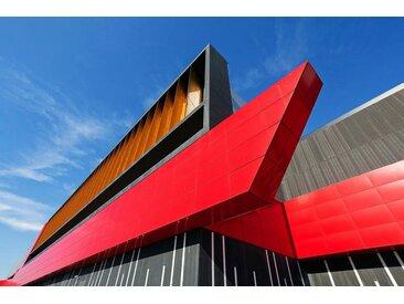 Places of Style Acrylglasbild Modernes Gebäude 150x100 cm, bunt Acrylglasbilder Bilder Bilderrahmen Wohnaccessoires