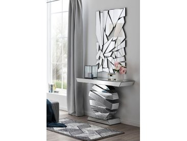 SalesFever Wandspiegel (B/H/T): 78/120/1,9 cm silberfarben Spiegel Wohnaccessoires