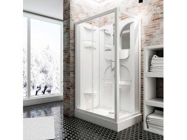 Schulte Komplettdusche Malta, inklusive Armatur Einheitsgröße weiß Duschkabinen Duschen Bad Sanitär