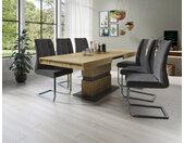 Homexperts Säulen-Esstisch Marley Az, ausziehbar, in 2 Größen (140 + 160) B/H/T: 160 cm x 75 90 cm, Einlegeplatten braun Esstische rechteckig Tische