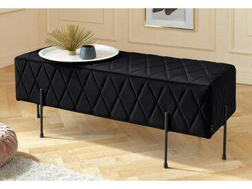 Leonique Sitzbank Cavalino, mit Velvetbezug und schwarzen Metallbeinen, auch als Garderobenbank oder Bettbank geeignet B/H/T: 110 cm x 39 40 cm, Velvet schwarz Polsterbänke Sitzbänke Stühle