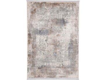carpetfine Teppich Vintage Liyath, rechteckig, 8 mm Höhe, hoher Viskoseanteil, im Look, Wohnzimmer B/L: 200 cm x 250 cm, 1 St. braun Esszimmerteppiche Teppiche nach Räumen
