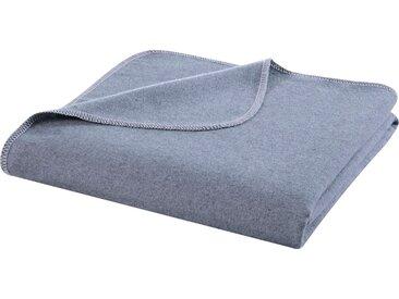 BIEDERLACK Wohndecke Reused, aus recycelten Jeans-Artikeln B/L: 140 cm x 200 blau Baumwolldecken Decken